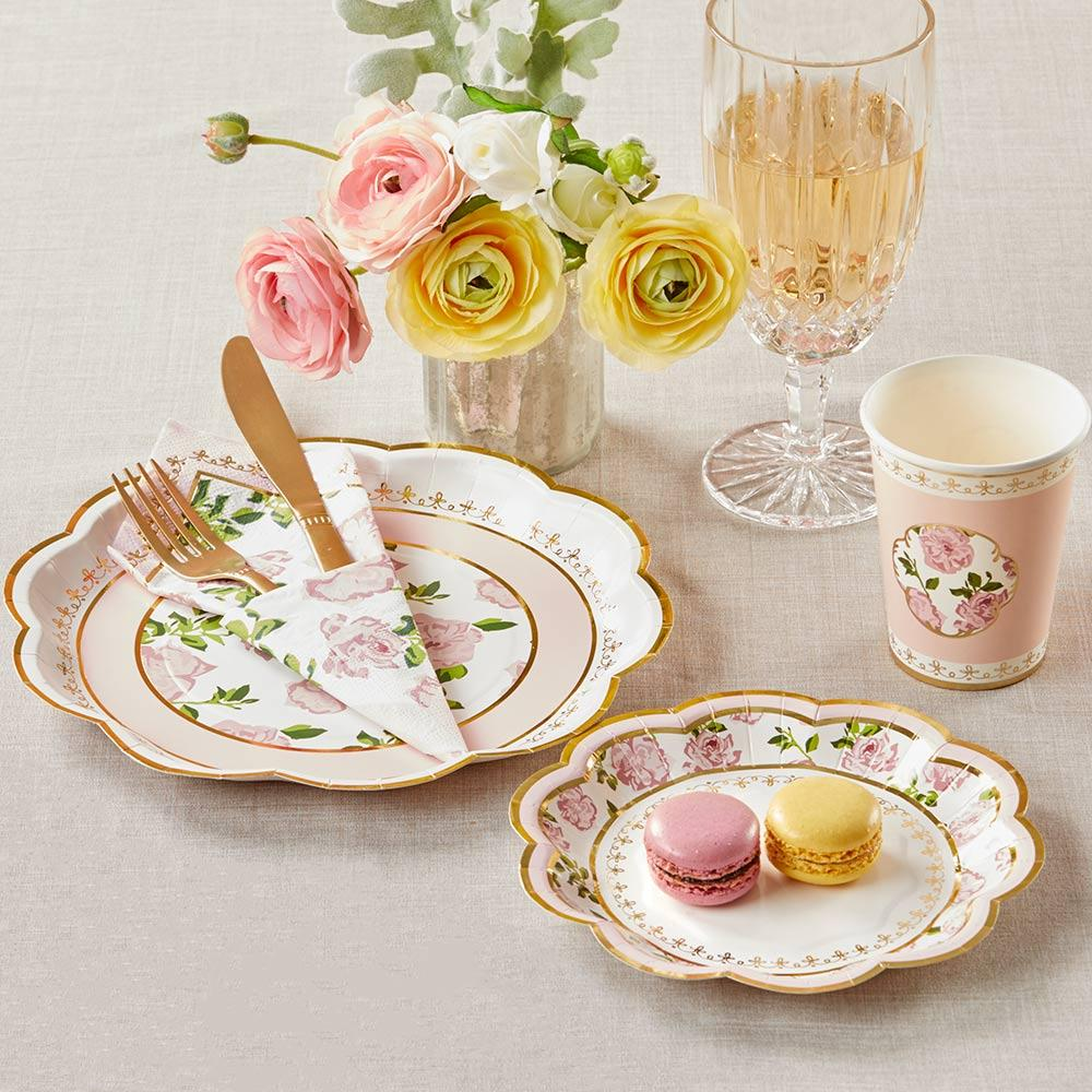 Tea Time Whimsy Tableware Set - Pink