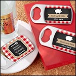 Personalized Silver Bottle Opener - BBQ