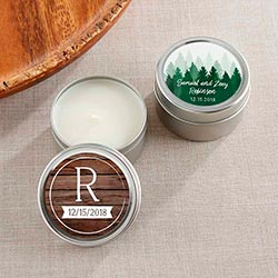 Personalized Travel Candle - Winter