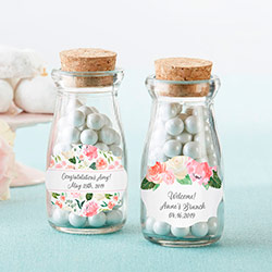Personalized Vintage Milk Bottle Favor Jar - Brunch (Set of 12)