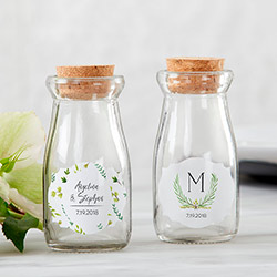 Personalized Milk Jar - Botanical Garden (Set of 12)
