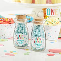 Personalized Milk Jar - Happy Birthday (Set of 12)