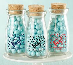 Personalized Printed Milk Jar - Its a Boy! (Set of 12)