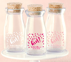 Personalized Printed Milk Jar - Its a Girl! (Set of 12)