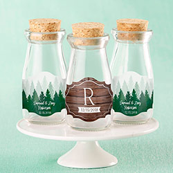 Personalized Milk Jar - Winter (Set of 12)