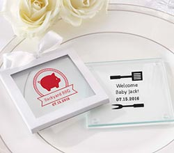 Personalized Glass Coaster - BBQ (Set of 12)