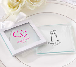 Personalized Glass Coaster (Set of 12) (Wedding)