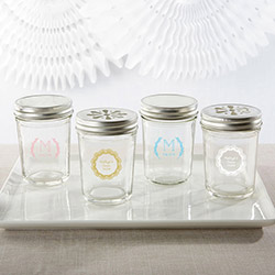 Personalized Printed Glass Mason Jar - Rustic Charm Wedding (Set of 12)