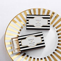 Personalized Black Matchboxes - Classic (Set of 50)