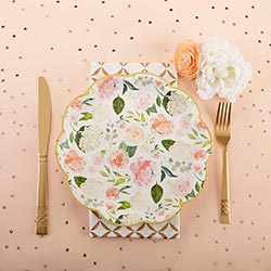 Floral 9 in. Paper Plates (Set of 8)
