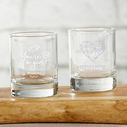 Personalized 2 oz. Shot Glass/Votive Holder - Elements