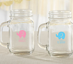 Personalized 16 oz. Mason Jar Mug - Little Peanut
