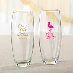 Personalized 9 oz. Stemless Champagne Glass - Cheery and Chic