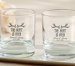 Personalized 9 oz. Rocks Glass –The Hunt Is Over