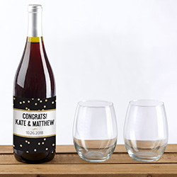 Personalized Wine Bottle Labels - Party Time