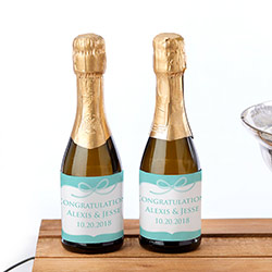Personalized Mini Wine Bottle Labels - Something Blue