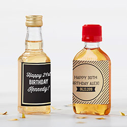 Personalized Mini Liquor Labels - Boozie Birthday