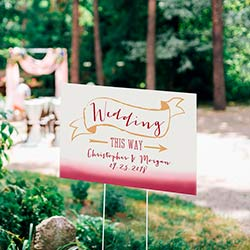 Personalized Directional Sign (18x12) - Vineyard