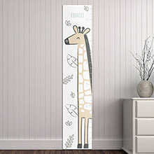 Personalized Safari Giraffe Growth Chart