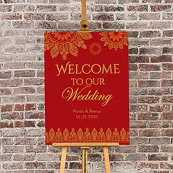 Personalized Poster (18x24) - Indian Jewel Wedding