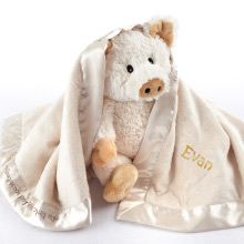 """Pig in a Blanket"" Two-Piece Gift Set in Adorable Vintage-Inspired Gift Box"